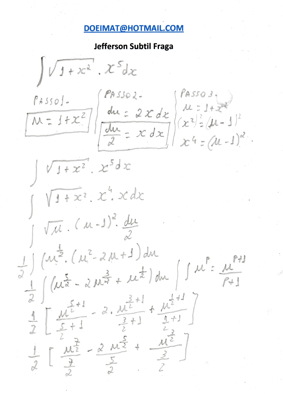 integral por substituição de variável doeimat s blog